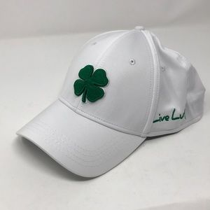 Black clover live lucky hat white green